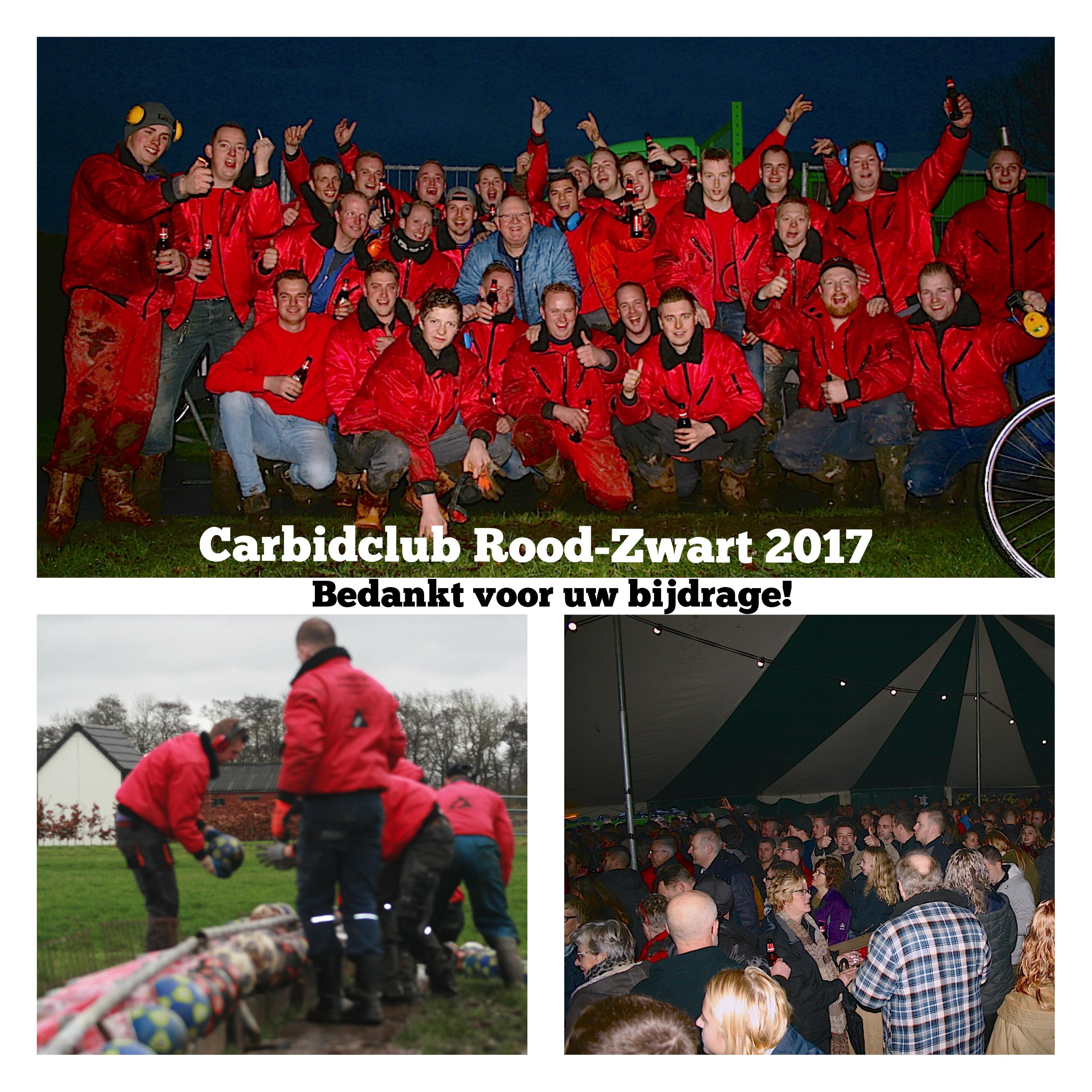 Carbidclub Rood Zwart 2017